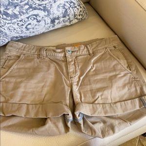 Anthropologie Pilcro khaki shorts.